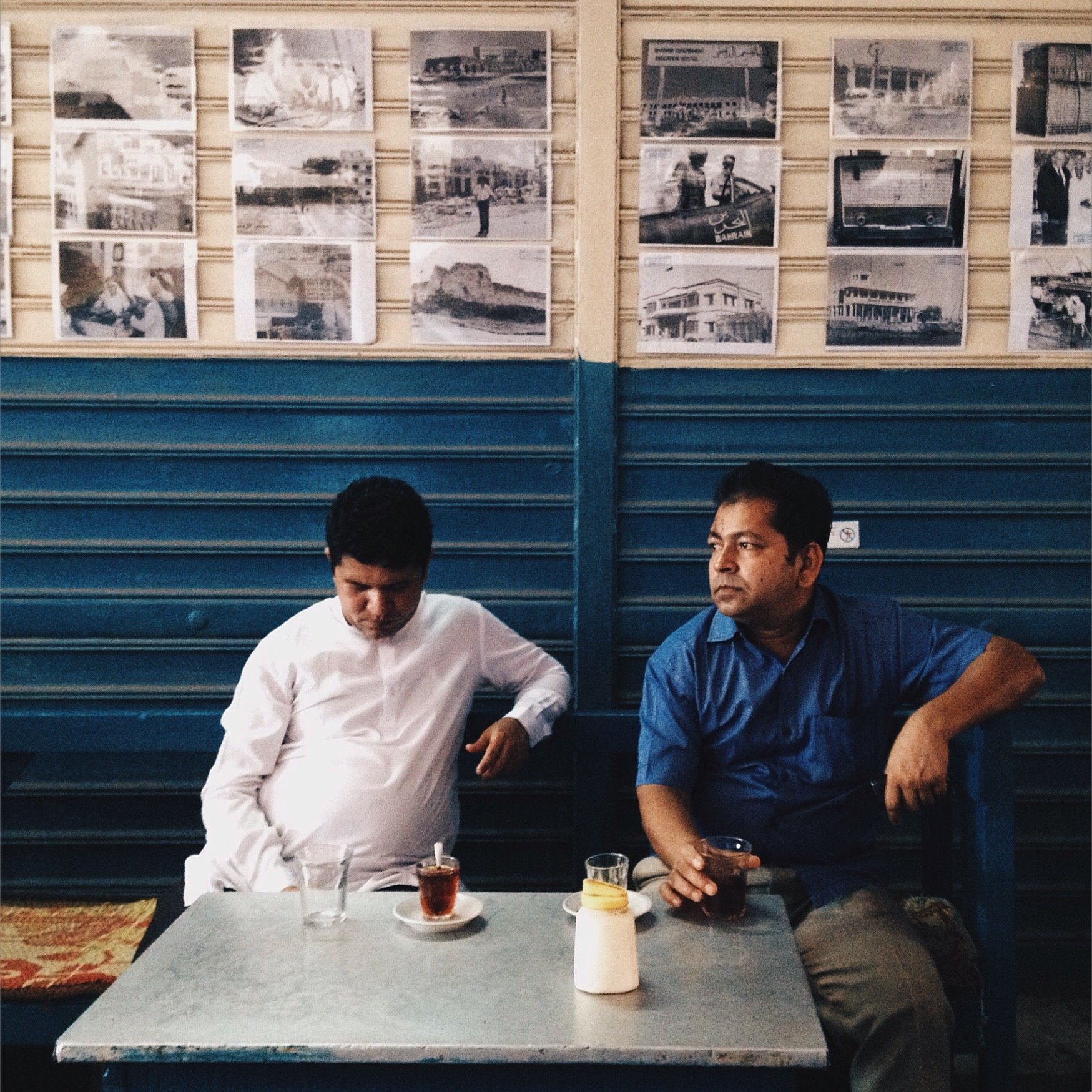 On holidays or after work, workers find refuge in local cafes, drinking tea and socializing.