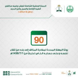 ملصق الحملة الذي نشرته إدارة الجوازات عبر حسابها على تويتر @AljawazatKSA