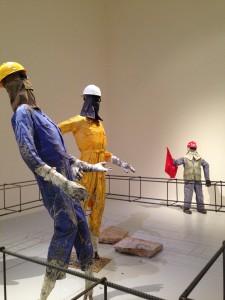 An installation by Qatari artist Khalifa Al Obaidly
