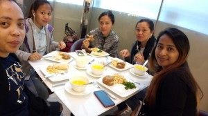 Kimberly, Hera and their colleagues had to stay at the Hamad International Airport for two days, without any money, as they had missed their flight due to immigration paperwork, and could not exit the airport once the visa was cancelled. Only on the second day did they manage to get food coupons from their embassy.