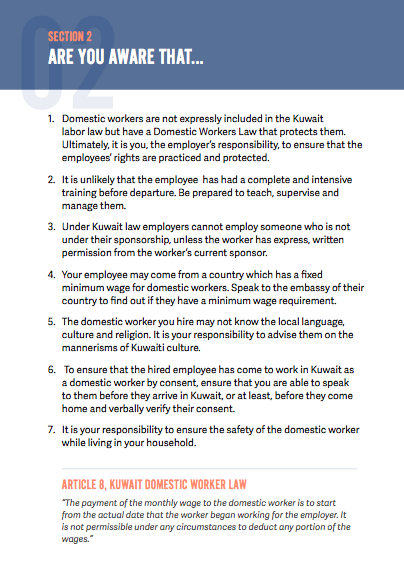 Your Guide to Employing A Domestic Worker (Kuwait) | Migrant