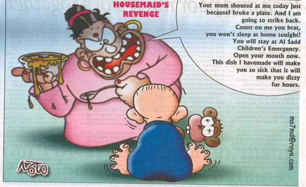 Housemaid's Revenge cartoon